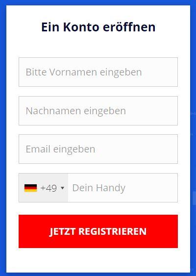 Registrieren Sie sich kostenlos auf T1Markets!